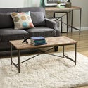Chevron Cross Design Coffee Table