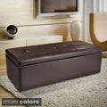 Christopher Knight Home Abigail Bonded Leather Storage Ottoman