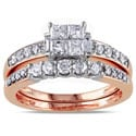 Miadora Signature Collection 14k Rose Gold 1ct TDW Diamond Bridal Ring Set (G-H, I1-I2)