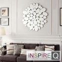 Inspire Q Nihoa Silver Finish Water Drop Accent Wall Mirror