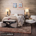 Furniture of America Jazari Modern Adjustable Linen Headboard