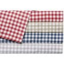 Classic 'Harvard' Check 300 Thread Count Cotton Sateen Sheet Set