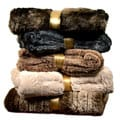 Brielle Faux Fur Reversible Throw in Gift Box