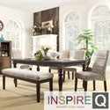 Inspire Q Vinemont Modern Rustic Driftwood Rectangular Dining Table
