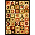 Multi-Color Contemporary Abstract Area Rug (8'2 x 9'10)