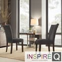 Inspire Q Parson Dark Gray Fabric Side Chairs (Set of 2)
