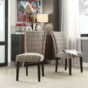 Parson Chain-link Print Fabric Side Chairs (Set of 2)