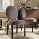 Zoey Dark Grey Chenille Round Back Side Chairs (Set of 2)