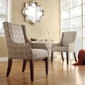 Kiefer Chain-link Print Sloped Arm Hostess Chair