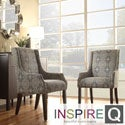 Inspire Q Kiefer Medallion Floral Sloping Track Arm Hostess Chair