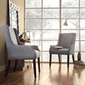 Kiefer Denim Blue Linen Sloping Arm Hostess Chair