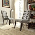 Alya Medallion Floral Tufted Back Hostess Chair (Set of 2)