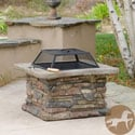 Christopher Knight Home Corporal Natural Stone Square Fire Pit