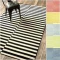 nuLOOM Hand-tufted Modern Stripes New Zealand Wool Rug (7'6 x 9'6)