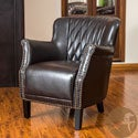 Christopher Knight Home Dorset Quilted Brown Leather Club Chair