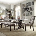 Vinemont Chrome-plated Rectangular Stretcher Dining Table