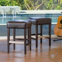 Christopher Knight Home Tate Backless Leather Counter Stool (Set of 2)