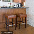 Christopher Knight Home Brinkley Backless Leather Bar Stool (Set of 2)