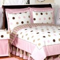 Sweet Jojo Designs Girls 'Dots' 4-piece Twin Comforter Set