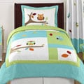 Sweet Jojo Designs Unisex 4-piece Hooty Owl Twin Comforter Set