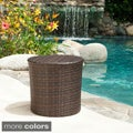 Christopher Knight Home Keaton Wicker Barrel Side Table
