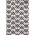 nuLOOM Hand-tufted Indoor/ Outdoor Teepee Black Rug (5' x 8')
