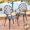 Christopher Knight Home Oviedo Cast Aluminum Copper Outdoor Dining Chair (Set of 2)