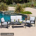 review detail Christopher Knight Home Honolulu Outdoor 4-piece Wicker Seating Set and Cushions