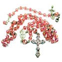 Light Pink Crystal Rosary and Bracelet Jewelry Set