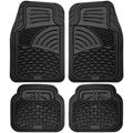 Universal Fit All-weather Tactical Heavy Duty 4-piece Rubber Car Floor Mat Set