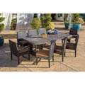 Corvus Batavia 9-piece Slate Stone Top Dining Set with Two Arm Chairs and Six Armless Chairs