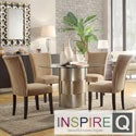 Kona 5-piece Carmel Chenille Chrome Barrel Dining Set