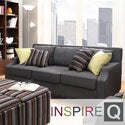 Inspire Q Ellyson Dark Grey Sloped Track Arm Sofa