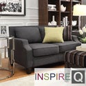 Inspire Q Ellyson Dark Grey Sloped Track Arm Loveseat