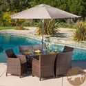 Christopher Knight Home Dawn Rectangular Outdoor Cast and Wicker 7-piece Set