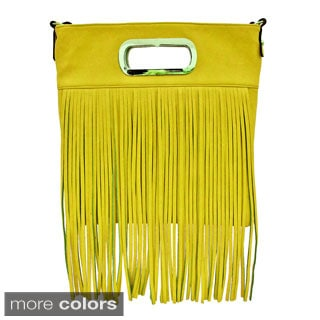 Cleopatra Juliet Shoulder Bag with Fringe Detail