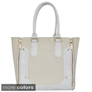 Cleopatra Julia Expandable Tote with Zipper Detail