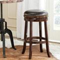 Safavieh Biagio Espresso/ Brown Seat 29-inch Bar Stool