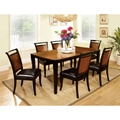 Saldi Acacia Wood/ Black 7-piece Dining Set