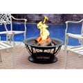30-inch Red Bronze Brush Scroll Fire Pit