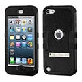 INSTEN Tuff Hard PC/ Silicone Dual Layer Hybrid Rubberized Matte Case with Stand for Apple iPod Touch 5th/ 6th Gen