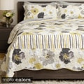 Flowers and Stripes 3-piece Quilt Set