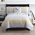 Kyle 4-piece Reversible Cotton Comforter Set