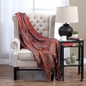 Reversible Red Paisley Cashmere/ Silk Throw Blanket (India)