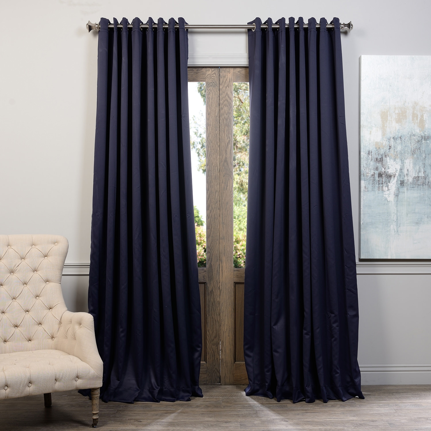 EFF Extra Wide Thermal Blackout Grommet Top 108-inch Curtain Panel