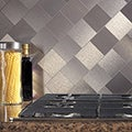 Aspect Stainless Peel and Stick Tiles (6.2 square feet)