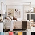 INSPIRE Q Solivita King-size Canopy Chrome Metal Poster Bed