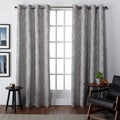 ATI Home Finesse Faux Linen Grommet Top Curtain 84 - 108-inch Length Panel Pair