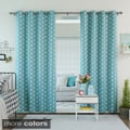 Overstock.com deals on Plus Print Room Darkening Grommet Curtain Panel Pair