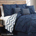 Ella 7-piece Pinch Pleat Reversible Comforter Set